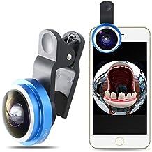 Mactrem Lentes para móviles 235° Ojo de Pez (FishEye), Lente universal para iPhone 7 / 7 Plus / 6 / 6 Plus / 5S / 5, Samsung Galaxy S6 / S6 Edge / S5, Huawei Honor etc.