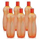 Cello Sipwell PET Bottle Set, 1 Litre, Set of 6, Orange