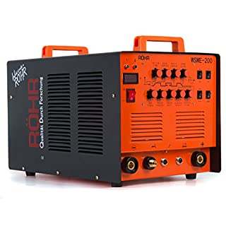 "ARC TIG Welder Inverter MMA Gas/Gasless 240V 200amp AC/DC ""4 in 1"" Machine - Röhr WSME-200"