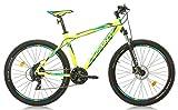 Sprint 27,5 Zoll Mountainbike Maverick 21 Gang, Farbe:Gelb, Rahmengröße:48cm