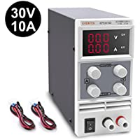 DC Power Supply Variable, 0-30V / 0-10A Eventek Adjustable Switching Regulated Power Supply Digital, with Alligator Leads and UK Power Cord