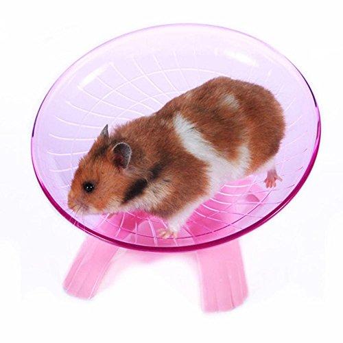 rungao Flying Untertasse Laufrad Hamster Rennmaus Käfig Pet Spinner Spielzeug rot (Flying Käfig)