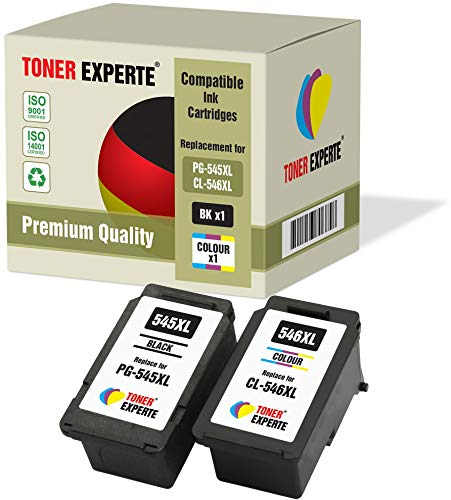 Kit 2 XL TONER EXPERTE PG-545XL CL-546XL Cartucce d'inchiostro compatibili per Canon Pixma MG2450 MG2550 MG2550S MG2950 MG3050 MG3051 MG3052 MX495 iP2850 TS205 TS3150 TS3151 TR4550 (Nero, Colore)