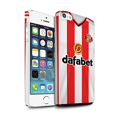 Offiziell Sunderland AFC Hülle / Glanz Snap-On Case für Apple iPhone 5/5S / Pack 24pcs Muster / SAFC Trikot Home 15/16 Kollektion Fußballer
