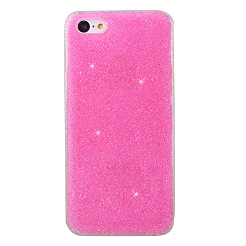 """Coque iPhone 5 Silicone Housse,Etui Housse iPhone 5S Gel Transparente Case Rosa Schleife® 4.0"""" Apple iPhone SE TPU Silicone Souple Case UltraSlim Coque de Protection Paillettes Portable Telephone iPho Rose"""