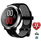 Smart Watches Round Smart Watch Unlocked Sports Writ Watch mit Touch Screen Fitness Tracker Smartwatch Android Smart Phones iOS Männer Frauen Kids,Gray