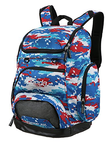 Speedo Teamster Mochila, Unisex Adulto, Rojo (Red / White / Blue), 35 l