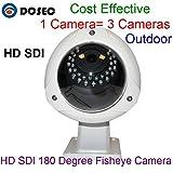 Al aire libre 1080P 2.0Mega Píxeles Full HD panorámica HD SDI cámara de 180grados de ojo de pez cámara de vigilancia con 30piezas IR LED impermeable IP66