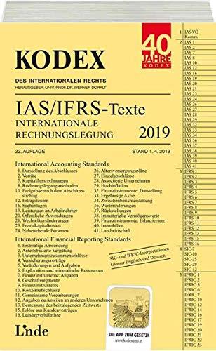 KODEX Internationale Rechnungslegung IAS/IFRS - Texte 2019 (Kodex des Internationalen Rechts)
