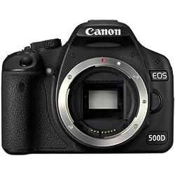 Canon EOS 500D Appareil photo numérique Reflex 15.5 Mpix Boîtier nu Noir