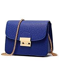 Malilove Pequeña Bolsa Bolsa Bolsa De La Cadena De Moda Femenina Todo Partido Diagonal Solo Bolso De Hombro,Azul