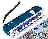 UV de billetes falsos de la lámpara de luz de billetes de dinero comprobador de dinero Euro con símbolo del dólar