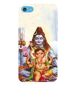 HiFi Designer Phone Back Case Cover Apple iPhone 6s Plus :: Apple iPhone 6s+ ( Lord Shiva Ganesh Gi )