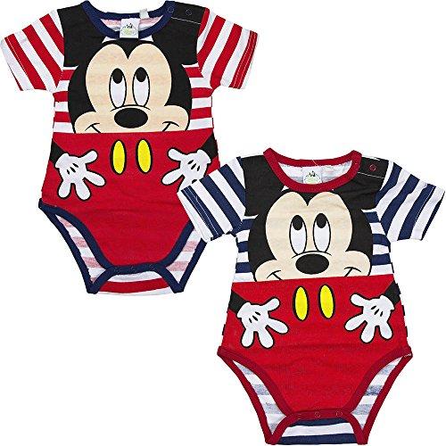 Disney Baby Micky Maus Body Kurzarm (74cm (12 Monate) Rot)