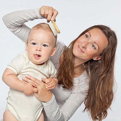 Grünspecht 520-00 Baby-Naturhaarbürste, Ziegenhaar - 6