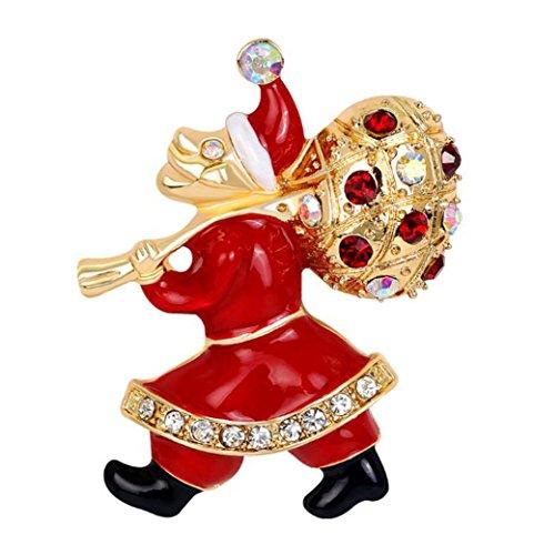 hten Legierung Dek Frauen Brosche/Herren Brosche Anzug Brooch / Hochzeit Dekoration/ Geburtstags Geschenk Pin size 4.2 x 3.3 cm (Santa Claus) (Santa Anzug Für Frauen)