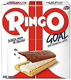Pavesi Ringo Goal Biscotto con Ripieno di Crema al Latte e Copertura di Cioccolato, Snack Dolce e Gustoso per la Merenda, Senza Olio di Palma - Confezione da 6 X 28g