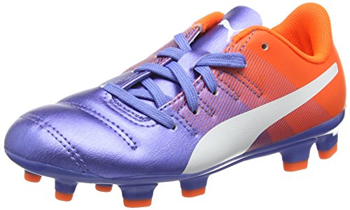 Puma Unisex-Kinder evoPOWER 4.3 FG Jr Fußballschuhe, Mehrfarbig (Blue Yonder White-Shocking Orange 03), 37.5 EU Orange Blue-puma-schuhe