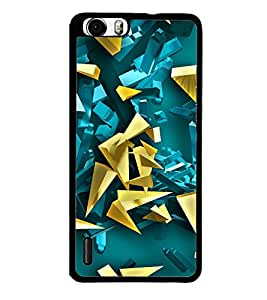 Fuson Premium 2D Back Case Cover Crystals With Multi Background Degined For Huawei Honor 6