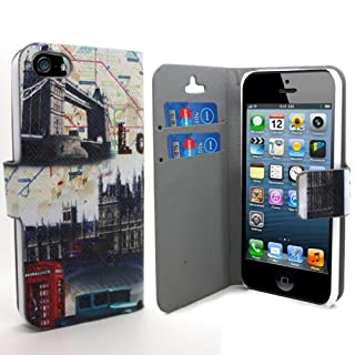 Accessory Master 5055716366396 London Bridge Design Buch Pu Ledertasche für Apple iphone 5G