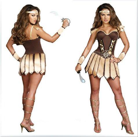 Bar Kampf Kostüm - Gorgeous Halloween-Cosplay -Krieger -Rollenspiel Einheitskleidung Kleidung