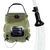 Camping douche, fonte Power 20L Mobile Chauffage Solaire Premium étanche Outdoor Drybag Pomme de douche, tuyau et amovible on off hable commutation Sola rduschen