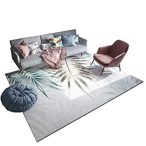 QIDI Teppich-Fußmatte, modern, schlicht, für Wohnzimmer, kein Milbenbasteln, Verschiedene Größen erhältlich, Ave, 200 * 300cm
