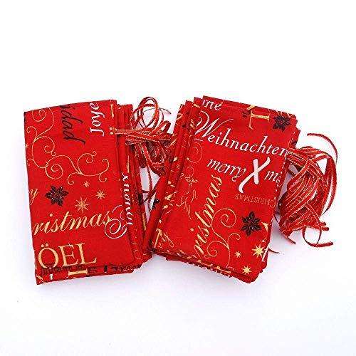 Adventskalender, Säckchenkalender, traditionell, rot-gold (24 Gold Köln)