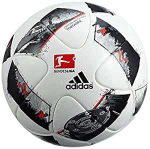 adidas Uni Dfl Offizieller Fußball, White/Black/Solar Red, 5