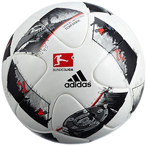 adidas DFL Offizieller Fußball, White/Black/Solar Red, 5