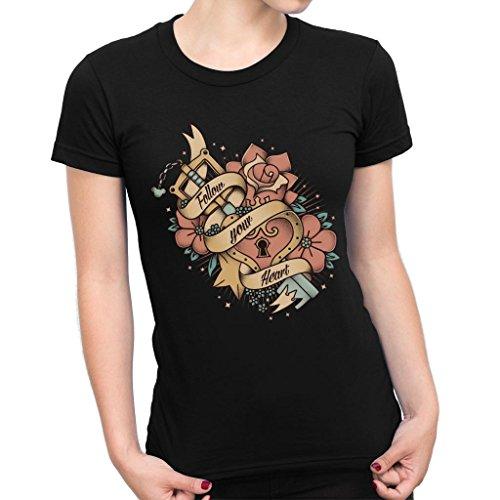 Follow Your Heart Kingdom Hearts Walt Women's T-Shirt (Bekleidung Kingdom Hearts)