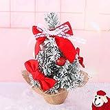 BESTQIAO Pequeño Navidad Árbol de Escritorio, Navidad árbol Adornos Decoradas Artificial Mini árbol de Navidad para Interior-B 40cm(16inch)