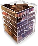 Oi Labels™ Large Clear Acrylic 'Kardashian' inspired 6 Section Cosmetics Jewellery Organiser Display