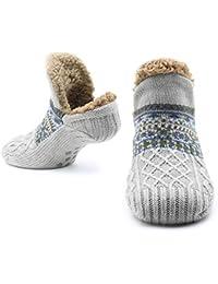 CityComfort Zapatillas mullidas Calcetines para mujeres Hombres Calor con calcetines Calcetines tejidos Lana Sherpa Fuzzy Bed