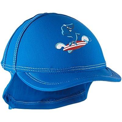 Aquatinto «Hai mit Surfbrett», UV +50 – Tapa Bebé-Niño, color azul, talla
