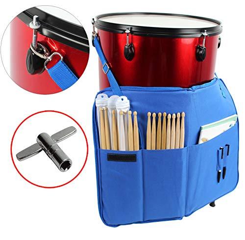 YMC DSB20Pro 15mm Drumstick-Tasche Halter Mallet Bag mit einem Schultergurt, Trommel Schlüssel - blau -