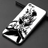 Uchiha Sasuke Ugumaki Naruto Coque Souple en Silicone TPU pour iPhone 6 6S 7 8 Plus X XR XS Max iPhone 7 5