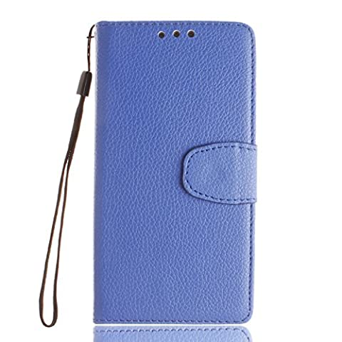 Sony Xperia Z5 Case Leather, Ecoway Lychee Pattern PU Leather