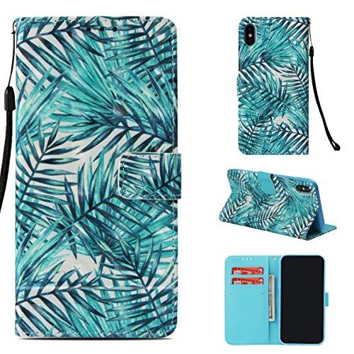 iPhone XS Max Funda, SHUYIT Alta Calidad Color patrón PU...