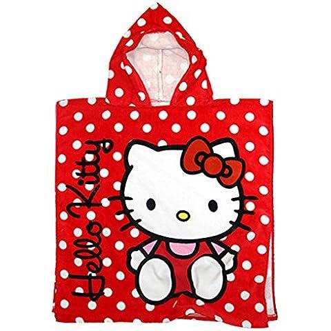 Hello Kitty-Poncho asciugamano 110 x 55 cm