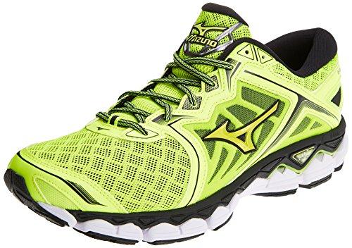 Mizuno Wave Sky, Zapatillas de Running Para Hombre, Multicolor (Safetyyellow/Safetyyellow/Black 44), 45 EU