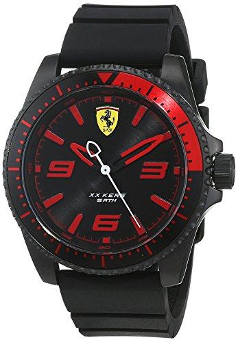 Scuderia Ferrari Homme Analogique Classique Quartz Montre avec Bracelet en Silicone 830465