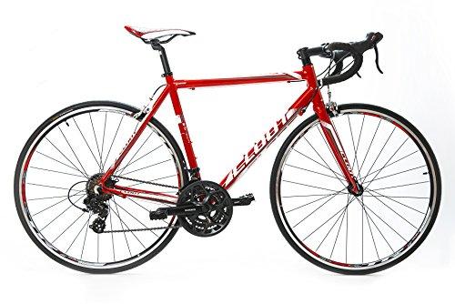 Bicicleta de carretera Cloot Elektra Race, Road bike 700x23c Cambio Shimano 21 Velocidades Cuadro de Aluminio Ligero 6061