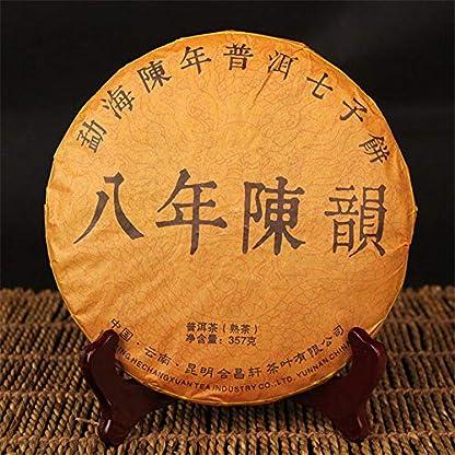Pu-erh-Tee-357g-079LB-alt-Yunnan-pu-erh-gekocht-Reif-Alter-Puer-Tee-Roter-Tee-Schwarzer-Tee-Chinesischer-Tee-Yunnan-Puer-Teekuchen