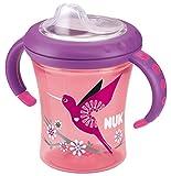 NUK 10255281 Easy Learning Starter Cup weiche Silikontrinktülle, auslaufsicher für Kinder ab 6 Monaten, 200 ml, violett