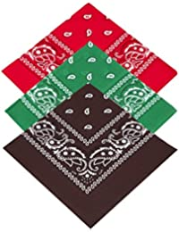 Pack of 3 x Paisley Neckerchiefs 100% Cotton for Men Women Children Girls    Boys Bandanna   Bandana Head   Neck Scarf   Headtie… b2460a4742d92