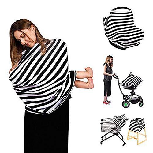 Stillende Abdeckung Stillschal Dehnbare Abdeckungen Babytrage Autositz Kinderwagen Überdachung Einkaufswagen Infinity-Schal Jungen Und Mädchen (Zebramuster)