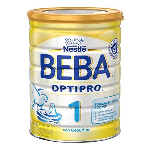Nestlé Beba OptiPro 1 Anfangsmilch, altersgerecht sättigende Baby-Milch, Milchpulver, für Säuglinge, ab Geburt, 1er Pack (1 x 800 g)