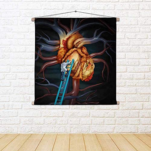 ArtzFolio High Cholesterol Treatment Wall Canvas Painting Tapestry Wall Treatment Hanging 24.4 X 24Inch 71d1d8