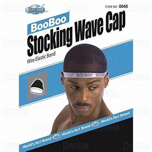 Dream, Boo Boo STOCKING WAVE CAP, Wire Eastic Band (Item #045 Black) by Dream - Boo Cap